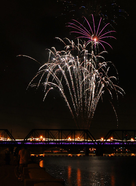 Tempe Town Lake fireworks 2011