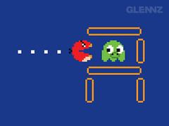Classic Mode (Glennz Tees) Tags: game art nerd fashion birds illustration design funny geek drawing humor cartoon arcade tshirt gaming gamer pacman angry illustrator draw popculture tee vector ai apparel adobeillustrator glenz glennjones glenjones glennz gleenz glennnz