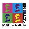 Marie Curie Logo with flag