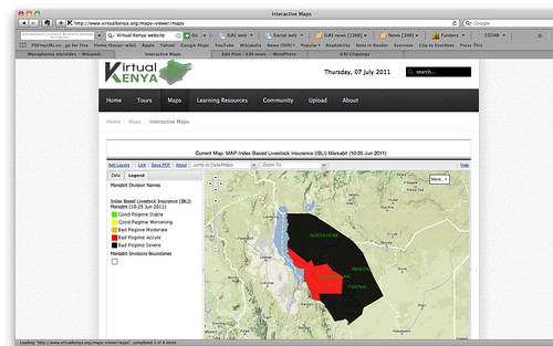 Critically low forage availability in Marsabit District in June 2011