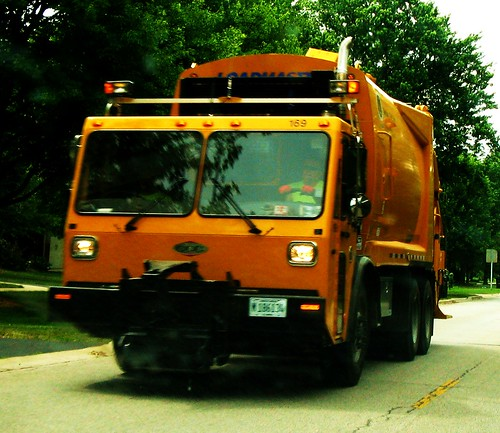 A Skokie Public Works / Refuse Collection Division CCC garbage truck.  Glenview Illinois USA. July 2011. by Eddie from Chicago