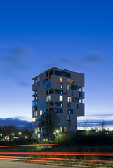 The Sil(o)houette (weyerdk) Tags: color colour building silhouette architecture denmark concrete design conversion lego silo duplex balconies housing stacking residential danmark tetris grainelevator aarhus rhus dwelling projections jutland appartments jylland roofterrace steelframe maisonettes noflashnightphotography archshot cfmllerarchitects lgten ruralhighrise siloetten thesilohouette