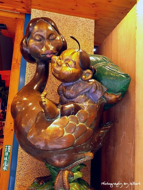 內灣.鵝姐野薑花粽:劉興欽大師為鵝姐繪製的大鵝專屬標識