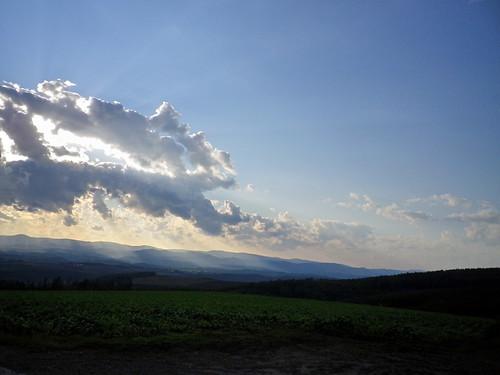 斜陽~就実の丘風景