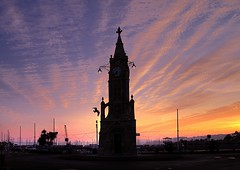 Torquay Clocktower (rosiespoonerphotos) Tags: uk sunset sea england seascape water canon photography coast ps clocktower devon torquay westcountry coastpath torbay torquayharbour southwestengland canonpowershotg10 canong10 rosiespooner rosyrosie2009 rosemaryspooner torquaysunset torquayclocktower rosiespoonerphotography
