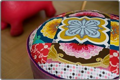 Pouf close up (Sewing Under Rainbow) Tags: anna home maria decor pouf horner