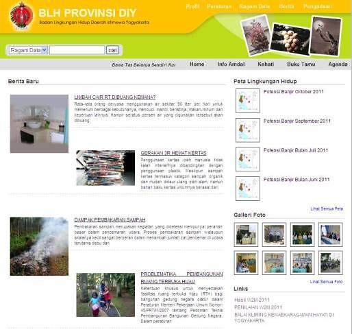 Badan Lingkungan Hidup Daerah Istimewa Yogyakarta  .