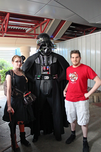 with Darth Vader