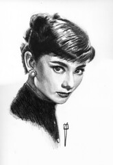 Audrey Hepburn  finished drawing. (rafanav) Tags: portrait art pencil drawing lapiz audrey finished navarro rafa hepburn