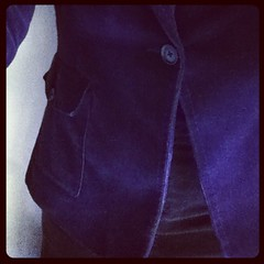 #frocktober 12th where aubergine meets chocolate and velour meets corduroy