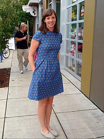 Colette Peony-short sleeve, no belt