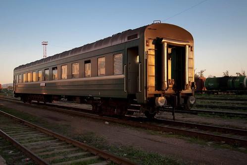 Vagón del tren 362 en la frontera con Mongolia