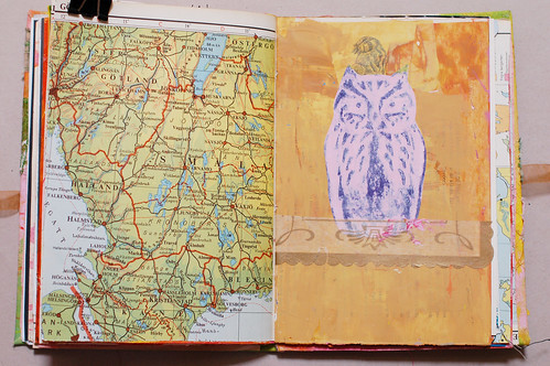 Journal of Scraps I: wise owl (pink)