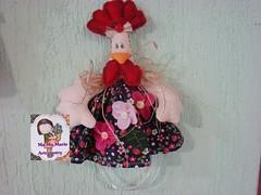 Porta pano de prato Galinha (Ma Ma Marie Artcountry) Tags: chicken galinha handmade feltro hen crafting tecido cocs portapanodeprato enfeitedecozinha towerhanger