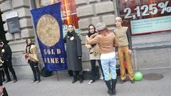 Gold Armee does not negotiate (pieceoplastic) Tags: schweiz switzerland zurich 99 banks paradeplatz ows 15oct occupy zurich occupytheplanet occupyparadeplatz