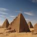 Kushite pyramids near Jebel Barkal, Sudan