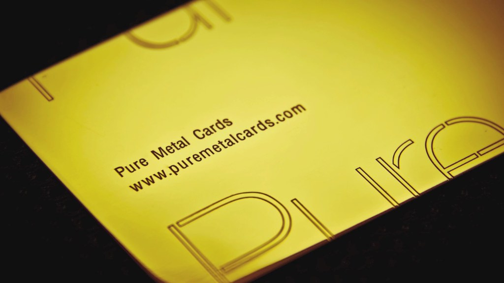 Gold Business Card by Pure Metal Cards