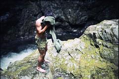 (m.tones) Tags: 50mm lynncanyon cliffjumping kodakgold nikonfe2 f14ais summer2010