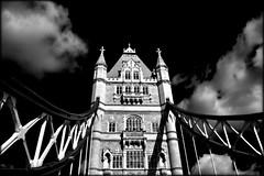 tower bridge (~~Heavenxxx89 Art & Photography~~Busy) Tags: england bw london monochrome towerbridge buildings mono blackwhite hdr tonemapping nikondslr nikond3100 dphdr5