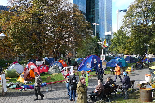 Occupy Camp in Frankfurt. Oktober 2011.