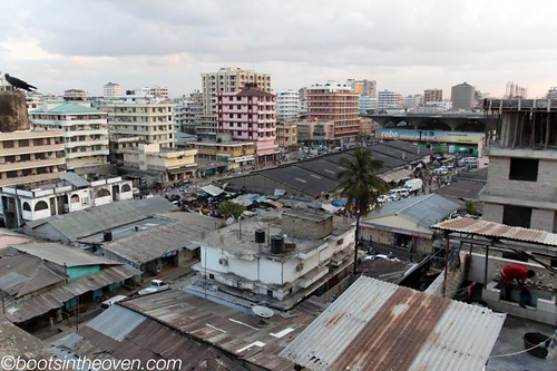 View of the Kariakoo Market from our hotel
