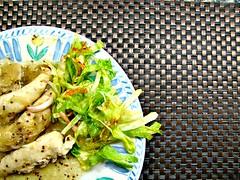 Solomillo de pollo con salsa de mostaza a la antigua