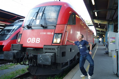 電車と坊主