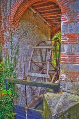 Wood Wheel (Fred Dakar) Tags: wood mill wheel stone photoshop moulin pierre pigeon hdr bois roue loiret photomatix