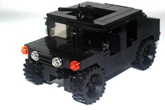 Humveeeeeeee (r. Randomness) Tags: black army gun lego military machine vehicle ordnance brickarms