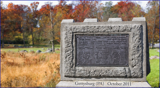 Second Massachusetts Regimental Monument -- Gettysburg (PA) October 2011