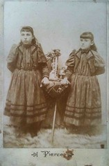 Edith and Maxine (smokey lace) Tags: girls fashion sisters eerie spooky bangs cabinetcard