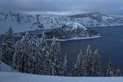 Crater Lake (Helminadia Ranford(New York)) Tags: winter cold oregon spring moody craterlake freshsnow