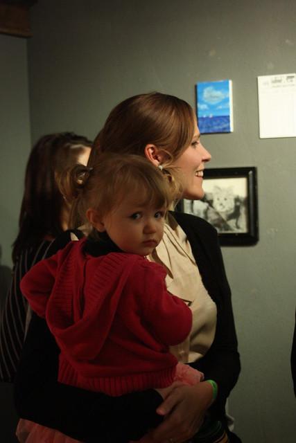 cordelia and I at bad art show