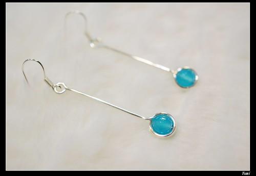 海藍玉髓耳環