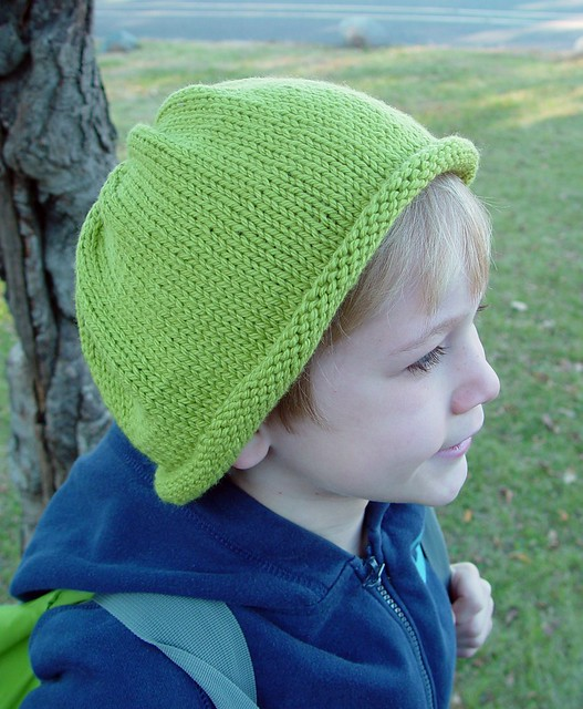 green knit hat, 1