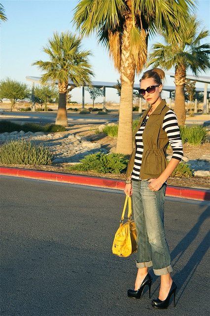 Casual outfit with cargo vest