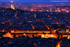 City of Lights, City of Love (TIA International Photography) Tags: street city blue light urban orange paris france art church museum night contrast buildings tia landscape evening spring europe butte boulevard cityscape view heart cathedral dusk louvre lumire basilica hill capital palace montmartre coeur aerial sacre muse cathdrale hour sacred capitale avenue soir rue nuit glise vue printemps franais ville tosin springtime colline heure batiment bleue basilique urbain republique franaise arasi visipix tiascapes tiainternationalphotography