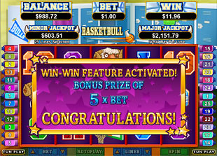 Basketbull Slot Big Bonus Game