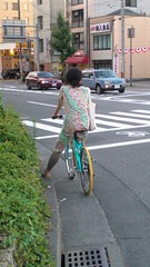 Woman Cyclist Kyoto
