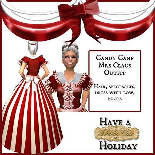 Candy Cane Mrs. Claus by Shabby Chics