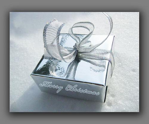 Silver Present Notecard