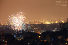 Happy Diwali! Fireworks over Bangalore (Brock Whittaker Photography) Tags: new old india cold fall sepia night season fire photography photo warm time fireworks seasonal bangalore picture firework nighttime photograph gradient diwali karnataka