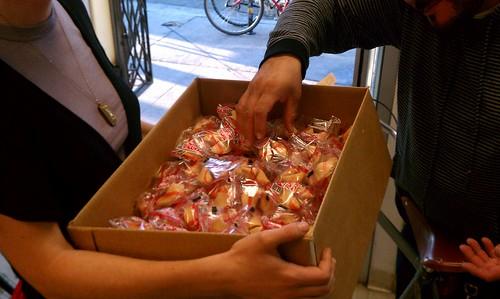 Flying Pigeon LA bike shop fortune cookies
