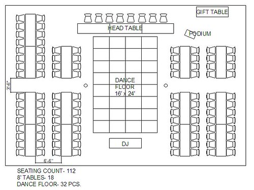 Wedding floor plans rectangular tables gurus floor for Wedding reception layout