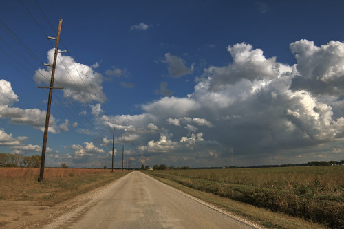 gravel road skyscape by davedehetre