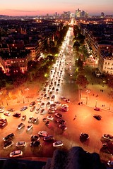 View from Arc de Triomphe, Parijs, 2011 (lambertwm) Tags: trees holiday paris france cars lights bomen boulevard traffic dusk qs frankrijk autos arcdetriomphe parijs ladfense verkeer schemer placecharlesdegaulle 2011 lichten avenuedeschampslyses herfstvakantie placedeltoile casoorthuys19481950