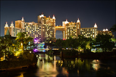 It's no Cinderella's Castle... #atlantis #bahamas (Alan Rappa) Tags: nightshot lagoon resort atlantis bahamas nassau paradiseisland royaltowers bridgesuite