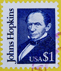 stamp USA $ 1.00 postage one Dollar timbre sello USA selo Johns Hopkins entrepreneur & philanthropist postzegel francobolli USA  zegels selos marka USA stamp USA air mail postage 25c United States postes timbre par avion selos sellos USA Airmail bollo (stampolina) Tags: blue portrait usa azul postes one 1 unitedstates mail blu stamps retrato stamp bleu dollar blau timbre azzurro ritratto postage postzegel portre  selo  johnshopkins sello sellos   briefmarken pulu briefmarke  uspostage selos timbres  francobolli bollo  postzegels    zegels timbresposte zegel   timbru   lns  postapulu postestimbre
