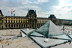 Louvre Pyramid at the Napoleon Courtyard at Louvre Museum Paris France (mbell1975) Tags: paris france art glass museum court gallery pyramid louvre royal courtyard palace du muse napoleon palais residence pyramide cour residenz napolon ilobsterit
