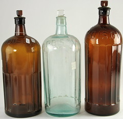 2010. Group of (3) Glass Bottles